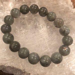 Labradorite round stone beads stretch bracelet
